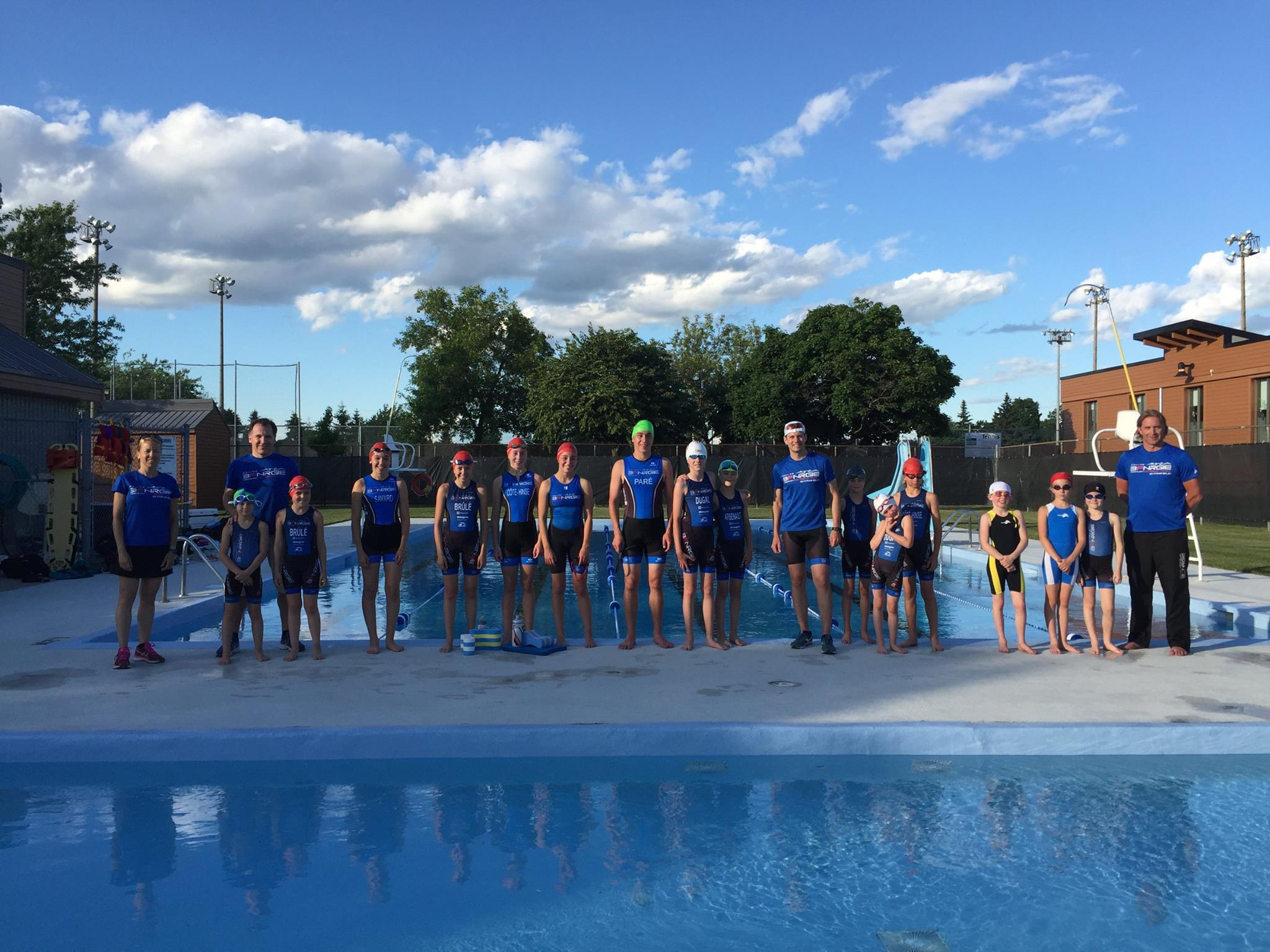 Premier entrainement en piscine club de triathlon 3fnrgie for Club piscine valleyfield